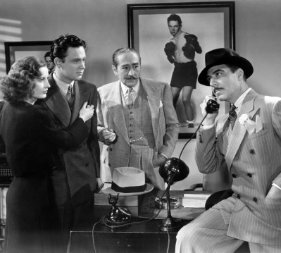 As 'Lorna Moon', with William Holden as 'Joe Bonaparte', Adolph Menjou as 'Tom Moody' and Joseph Calleia as 'Eddie Fuseli'in Clifford Odets' hit play, Golden Boy, 1939.
