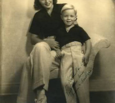 Barbara Stanwyck with her son Dion Fay