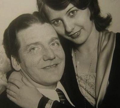 With Frank Fay.
