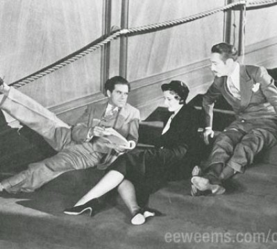 With Frank Capra and Adolf Menjou during the making of Forbidden