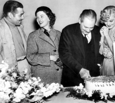 Clark Gable, Myrna Loy, Lionel Barrymore, and Jean Harlow.